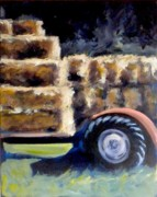 Bales Paintings - Harvest by Paula Strother