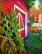 Pumpkins Paintings - Harvest Time 2 by Earl Jackson