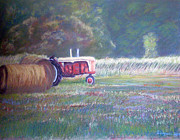 Harvest Pastels Metal Prints - Harvest Time Metal Print by Dayna Jones