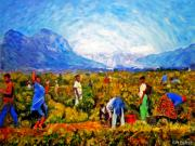 Workers Paintings - Harvest Time by Michael Durst