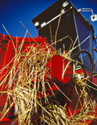 Combine Photos - Harvesting by Meirion Matthias