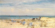 Boat On Beach Paintings - Harvesting the Land and the Sea by William Lionel Wyllie