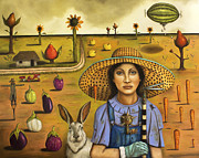 Fruit. Watermelon Prints - Harvey and The Eccentric Farmer Print by Leah Saulnier The Painting Maniac