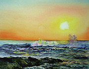 Jersey Shore Painting Originals - Harvey Cedars- New Jersey Dawn by Paul E Temple