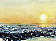 Cedars Paintings - Harvey Cedars NJ September Sunrise by Paul E Temple