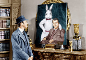 1950s Movies Framed Prints - Harvey, James Stewart, 1950 Framed Print by Everett