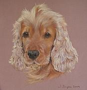 English Cocker Spaniel Posters - Harvey Poster by Joanne Simpson