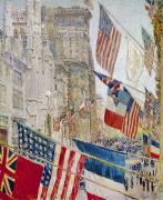 Hassam Framed Prints - Hassam: Allies Day, May 1917 Framed Print by Granger