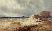 Seashore Metal Prints - Hastings Metal Print by Gustave de Breanski
