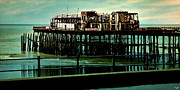 Sussex Digital Art Prints - Hastings Pier Print by Chris Lord