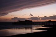 Purple Sea Print Prints - Hastings Pier Print by Dawn OConnor
