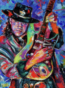 Musician Portrait Painting Originals - Hat And Guitar by Debra Hurd