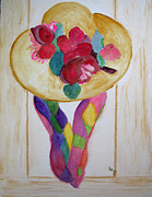 Silk Paintings - Hat and Scarf by Sandy McIntire
