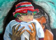 Nicaragua Paintings - Hat of many colors by Sarah Hornsby