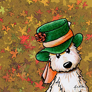 Mad Hatter Digital Art Prints - Hat Season Cairn Terrier Print by Kim Niles