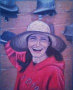 Red Sox Pastels - Hat Store Happiness by Samuel McMullen