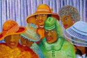 African American Paintings - Hat-ti-tude by Kenji Tanner
