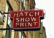 Nashville Tennessee Digital Art Metal Prints - Hatch Show Print Metal Print by Sandy MacGowan