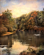 Autumn Landscape Photo Framed Prints - Hatchie River Framed Print by Jai Johnson