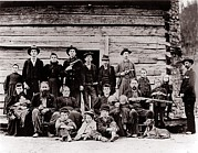 Revolvers Prints - Hatfield Clan In 1897. Their Feud Print by Everett