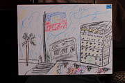 Haiti Drawings - Hatian Flag Proudly Flying by Michael Vincent Whitemiller