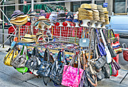 Street Vendors Art - Hats and Handbags by Paul Ward