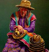 Culture Pastels - Hats For Sale by Susan Bergstrom