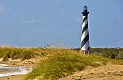 Lighthouse Metal Prints - Hatteras Lighthouse Metal Print by Ches Black