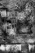 Creepy Metal Prints - Haunted - Abandoned Metal Print by Mike Savad