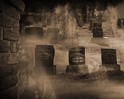 Manifestation Prints - Haunted Cemetery Pt 1 Print by Liezel Rubin