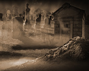 Manifestation Prints - Haunted Cemetery Pt 2 Print by Liezel Rubin
