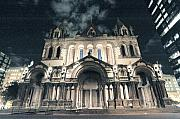 Boston Digital Art Metal Prints - Haunted church Metal Print by Irene Kijak