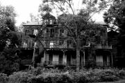 Haunted Houses Photo Posters - Haunted Poster by Emily Stauring