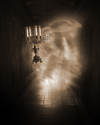 Haunted Mansion Photos - Haunted Hallway by Liezel Rubin