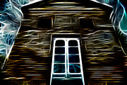 "\\\""haunted House\\\\\\\"" Metal Prints - Haunted House Metal Print by Cheryl Young"