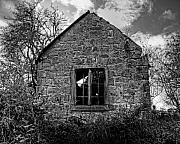 Haunted House Photos - Haunted House in Black and White by Chris Smith