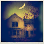 Moonlit Night Prints - Haunted House Print by Jill Battaglia