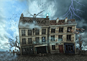 Thunderstorm Digital Art - Haunted House by Jutta Maria Pusl