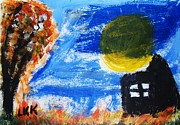 Haunted House Paintings - Haunted House by Linda Knight