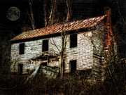 Old House Photos - Haunted House On The HIll by Kathy Jennings