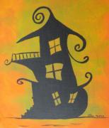 Haunted House Paintings - Haunted House by Shelia Howe