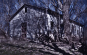 Haunted Barn Photos - Haunted Kansas Barn by Don Wolf