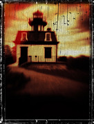 Ghoul Framed Prints - Haunted Lighthouse Framed Print by Edward Fielding