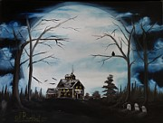 Haunted Mansion  Paintings - Haunted Mansion 2006 by Shawna Burkhart