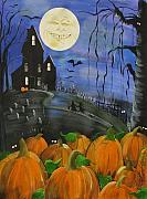 Haunted Night Print by Sylvia Pimental