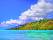 Moorea Paintings - Hauru Point Moorea by Dominic Piperata