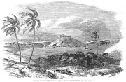 1851 Photos - HAVANA, CUBA, 1851. /nA view of the harbor and Fort of Atares. Wood engraving, English, 1851 by Granger