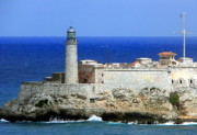 Cuban Photos - Havana Harbor Lighthouse by Karen Wiles