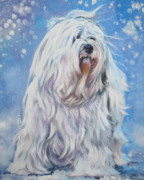 Havanese Posters - Havanese in snow Poster by Lee Ann Shepard