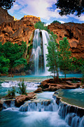 Grand Canyon National Park Photos - Havasu Cascades by Inge Johnsson